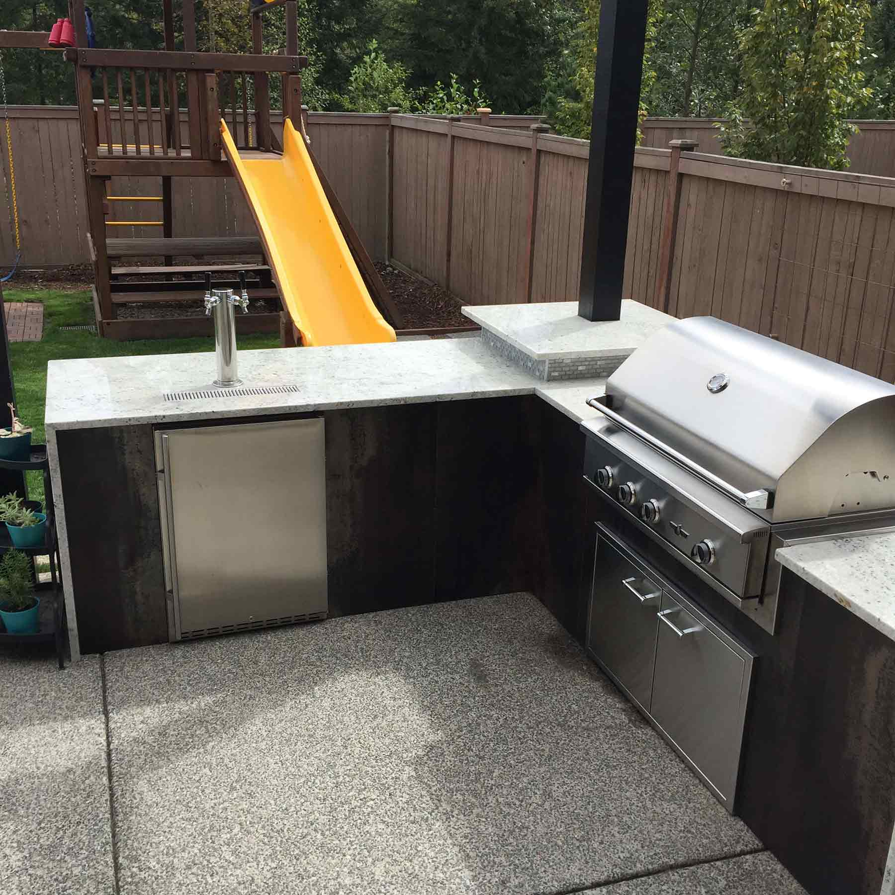 Sinconis Project – Snoqualmie, WA – Outdoor Kitchen 1